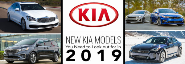 Four new Kia models including the Optima, K900, Sedona, and Stinger