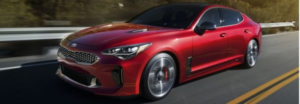 2019 Kia Stinger red sports car